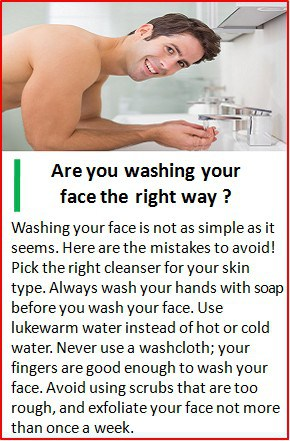 right way to wash face
