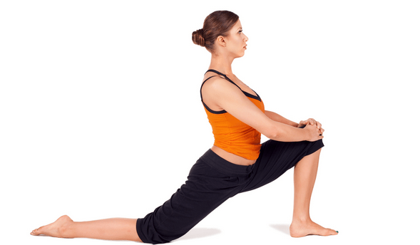 half lunge stretching exercise