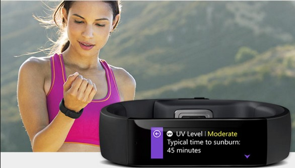 microsoft band smart health wearable
