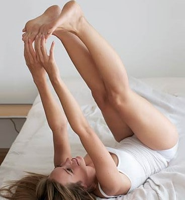 grab your toes and pull healthy stretching exercise