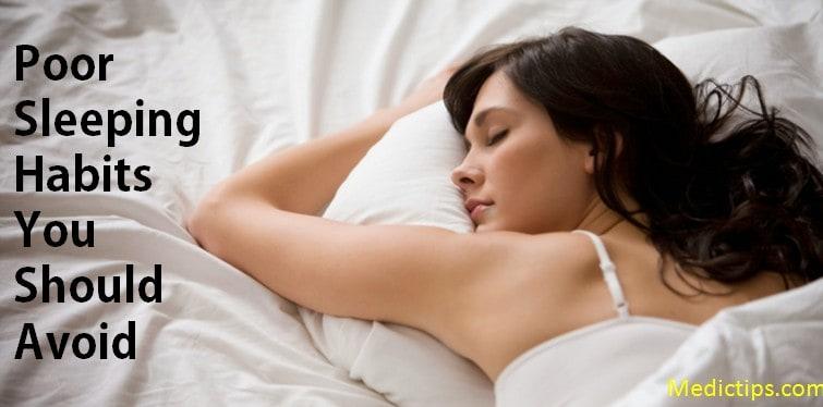 bad sleeping habits you should avoid