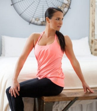 seated spinal twist streching