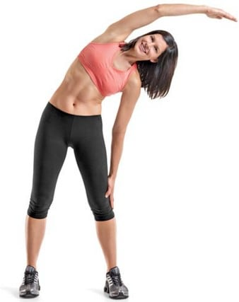 side streching exercise fitness tip