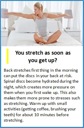 stretching in morning for quick relief, unhealthy for you