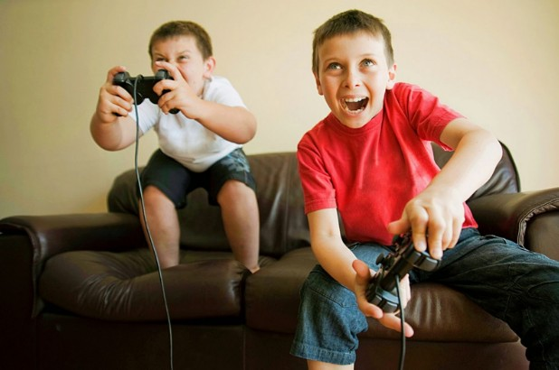new generation kids playing games