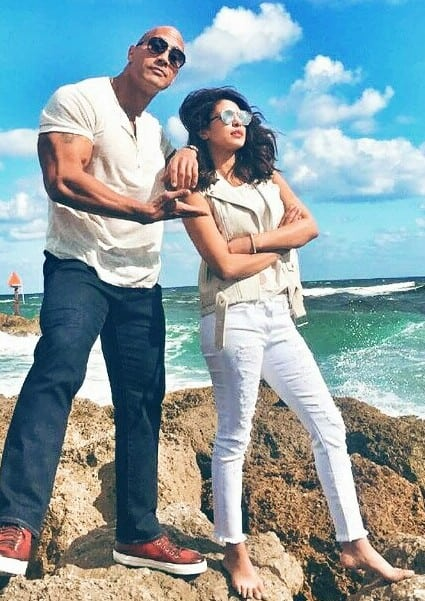 priyanka chopra with dwayne johnson