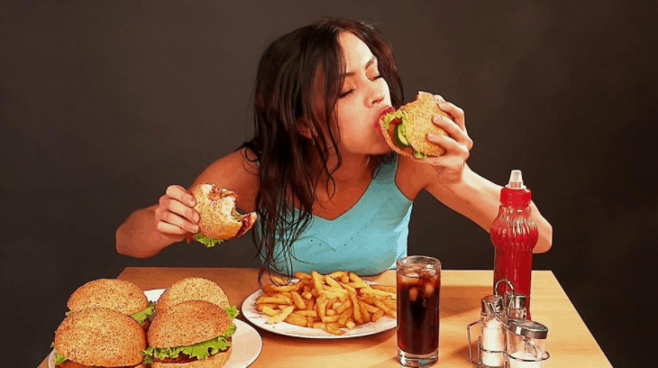 eating alot can make you sick and unhealthy