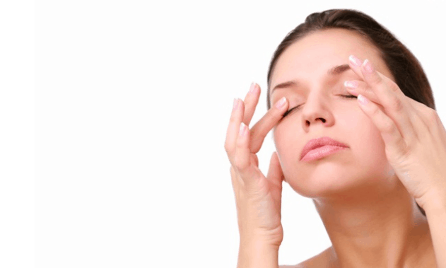 massage the eye lids for thicker eye lashes