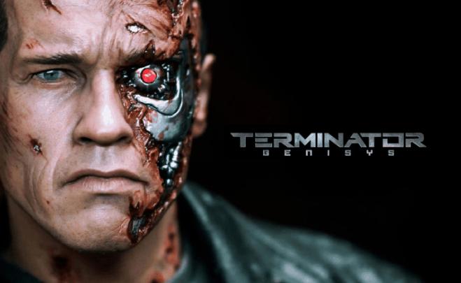 Arnold Schwarzenegger terminator movie series clips and pics