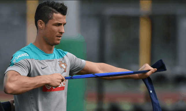 Cristiano Ronaldo workout stretching and fitness mantra