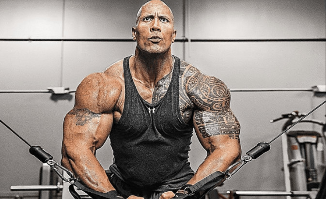 Dwayne Johnson, the rock workout tips and fitness routine