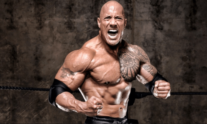 Dwayne Johnson workout body