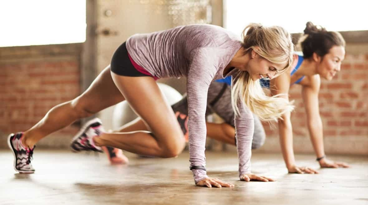 mountain climbers workout exercise , Fitness-Program