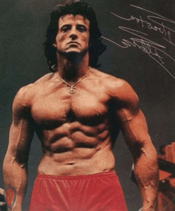 Sylvester Stallone body stats and fitness