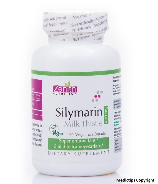 Zenith Nutrition Silymarin Milk Thistle Standardized - 400mg Capsule Revies