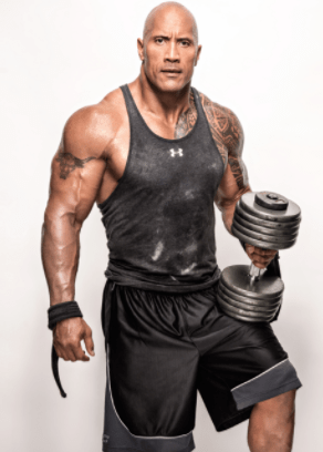 body stats of dwayne johnson the rock