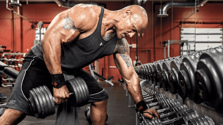 gym workout body building dwayne johnson