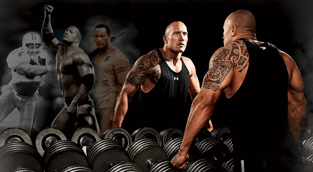 gym workout regime for dwayne johnson