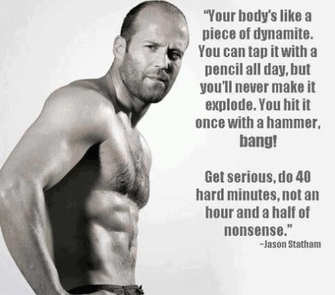 jason statham words of wisdom, workout tips