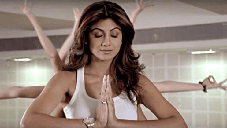 shilpa shetty yoga and workout tips