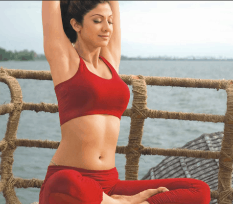 shilpa shetty yoga asanas and yoga breathing