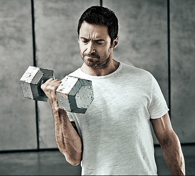weight training of huge jackman body building