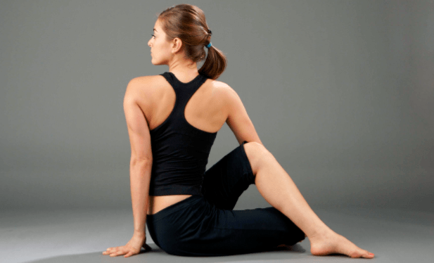 Ardha matsyendrasana for back pain relief