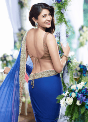 anushka sharma hot in sari