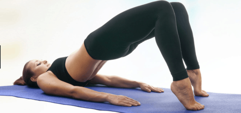 bridge pose yoga asana for weight loss