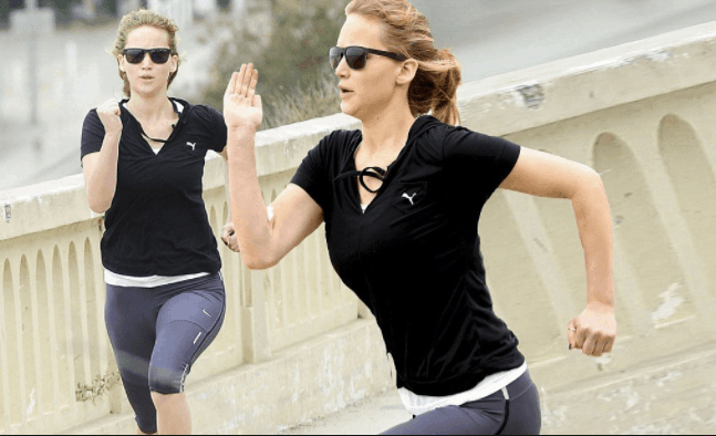 Jennifer lawrence running