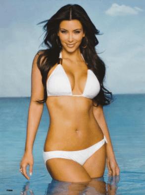 kim kardashian swim suit bikini figure sexy pic
