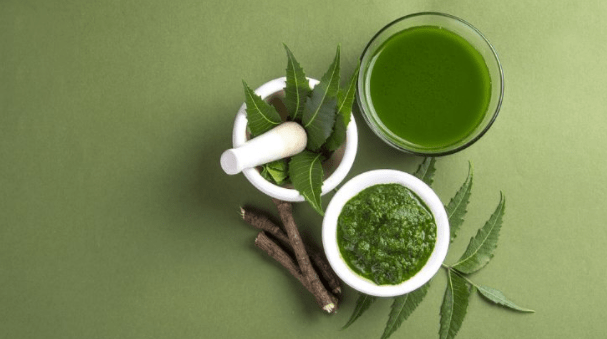 neem paste and neem juice to use for removing dandruff