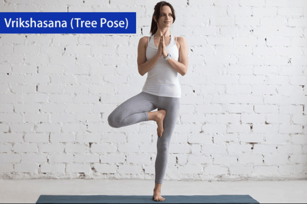 tree pose yoga asana for back pain relief
