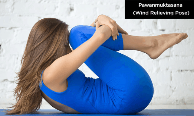 yoga poses for back pain relief, wind release pose